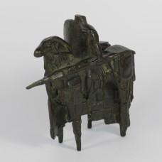 """Bronzen beeld door Eric Claus genaamd """"Toernooi ridder"""""""