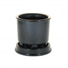 Copier cactus pot zwart persglas met schotel