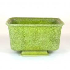 Copier graniver cactuspot geel/groen rechthoekig met onderschotel