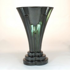 Art Deco plateel vaas van thulin belgium