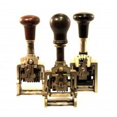 Set van 3 mechanische numerator stempels