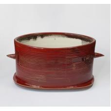 Ovale keramiek schaal / pot uit Litouwen