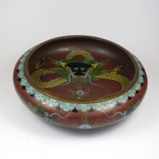 Chinese cloisonne schaal