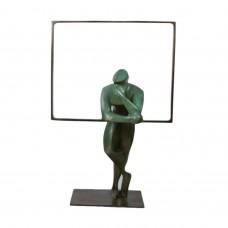 """Bronzen beeld van Eric Goede """"Hij die kijkt"""""""